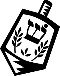 Dreidel Decal / Sticker 03