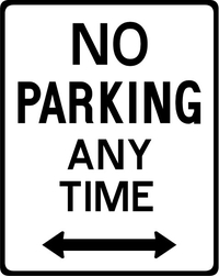 No Parking Anytime Decal / Sticker 07