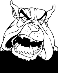 Bulldog Mascot Decal / Sticker