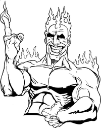 Heat Mascot Decal / Sticker