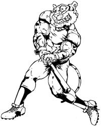 Tigers Baseball Mascot Decal / Sticker