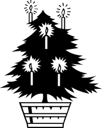 Christmas Tree Decal / Sticker 01