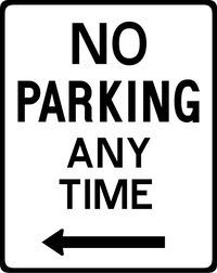 No Parking Anytime Decal / Sticker 09