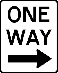 One Way Decal / Sticker 01