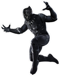 Black Panther Decal / Sticker 08