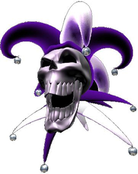 Purple Jester Skull Decal / Sticker