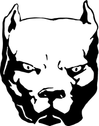 Pitbull Decal / Sticker 10