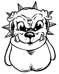 Bulldog Mascot Decal / Sticker 2