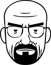 Breaking Bad Heisenberg (Walter White) Decal / Sticker 32