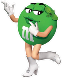 Green Female M&M Decal / Sticker 49