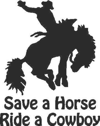 Save a Horse Ride a Cowboy Decal / Sticker 02