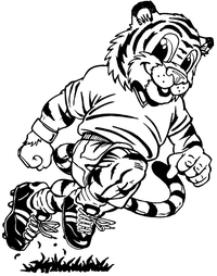 Tigers Soccer Mascot Decal / Sticker