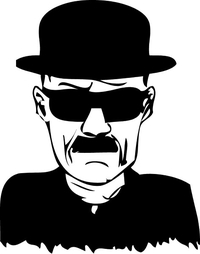 Breaking Bad Heisenberg (Walter White) Decal / Sticker 13