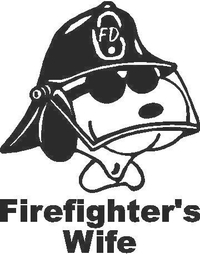 Snoopy Firefighter's Wife Decal / Sticker