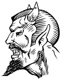 Devils Mascot Decal / Sticker 5