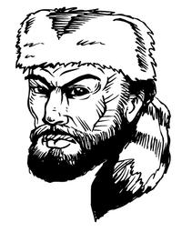 Frontiersman Mascot Decal / Sticker 5