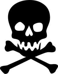 Skull and Cross Bones Decal / Sticker 14