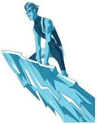 X-men Iceman Decal / Sticker 01
