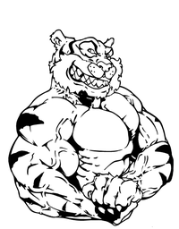 Tigers Weightlifting Mascot Decal / Sticker