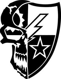 Ranger DUI Skull and Crest Decal / Sticker 01