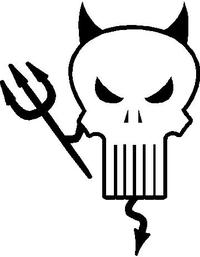 Punisher Devil Decal / Sticker