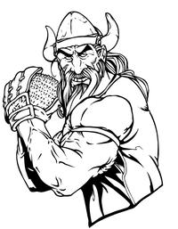 Vikings Baseball Mascot Decal / Sticker