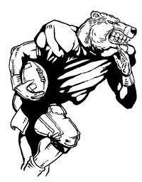 Football Bears Mascot Decal / Sticker