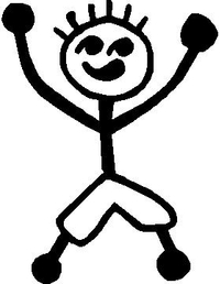 Shorts Boy Stick Figure Decal / Sticker 06