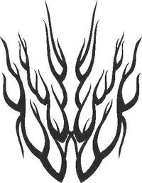 Flames Decal / Sticker 37