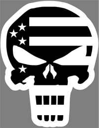 American Flag Punisher Decal / Sticker 69
