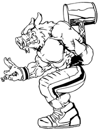 Razorbacks Football Mascot Decal / Sticker