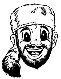 Frontiersman Mascot Decal / Sticker 1