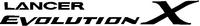 Mitsubishi Lancer Evolution X Decal / Sticker