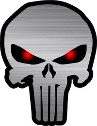 Red Eyed Punisher Decal / Sticker 20