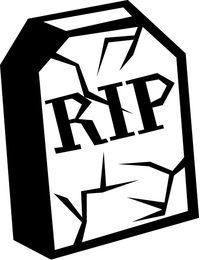 RIP Tombstone Decal / Sticker 01
