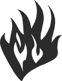 Flames Decal / Sticker 59