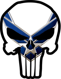 Air Force Punisher Decal / Sticker 105