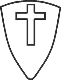 Shield with Cross Decal / Sticker