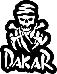 Dakar Rally Pirate Decal / Sticker 05