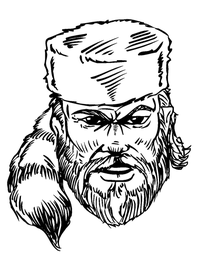 Frontiersman Mascot Decal / Sticker 4