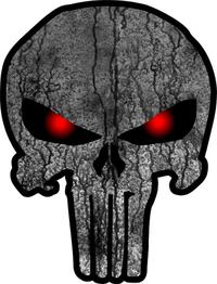 Weathered Punisher Decal / Sticker 65