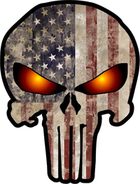 American Flag Punisher Decal / Sticker 72