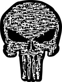 Gun Punisher Decal / Sticker 87