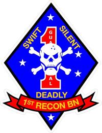 1st Recon Battalion Decal / Sticker 01