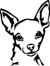 Chihuahua  Decal / Sticker 02