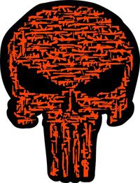 Gun Punisher Decal / Sticker 158