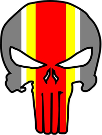Kansas City Chiefs Punisher Decal / Sticker 41
