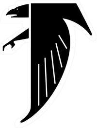 Hawks / Falcons Full Mascot Decal / Sticker 03