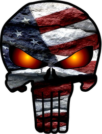 American Flag Punisher Decal / Sticker 71