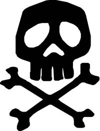 Captain Harlock Skull and Cross Bones Decal / Sticker 01